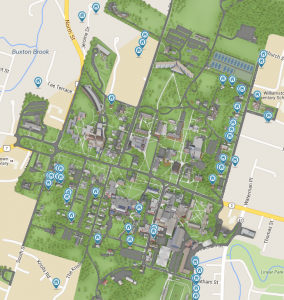 Residentail properties on campus map